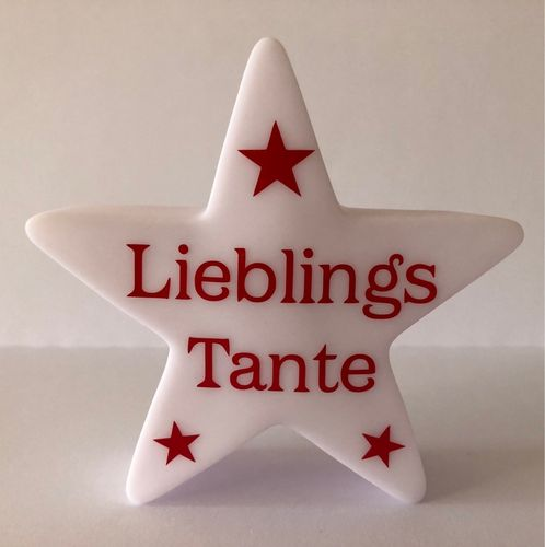 LED Stern Lieblings Tante